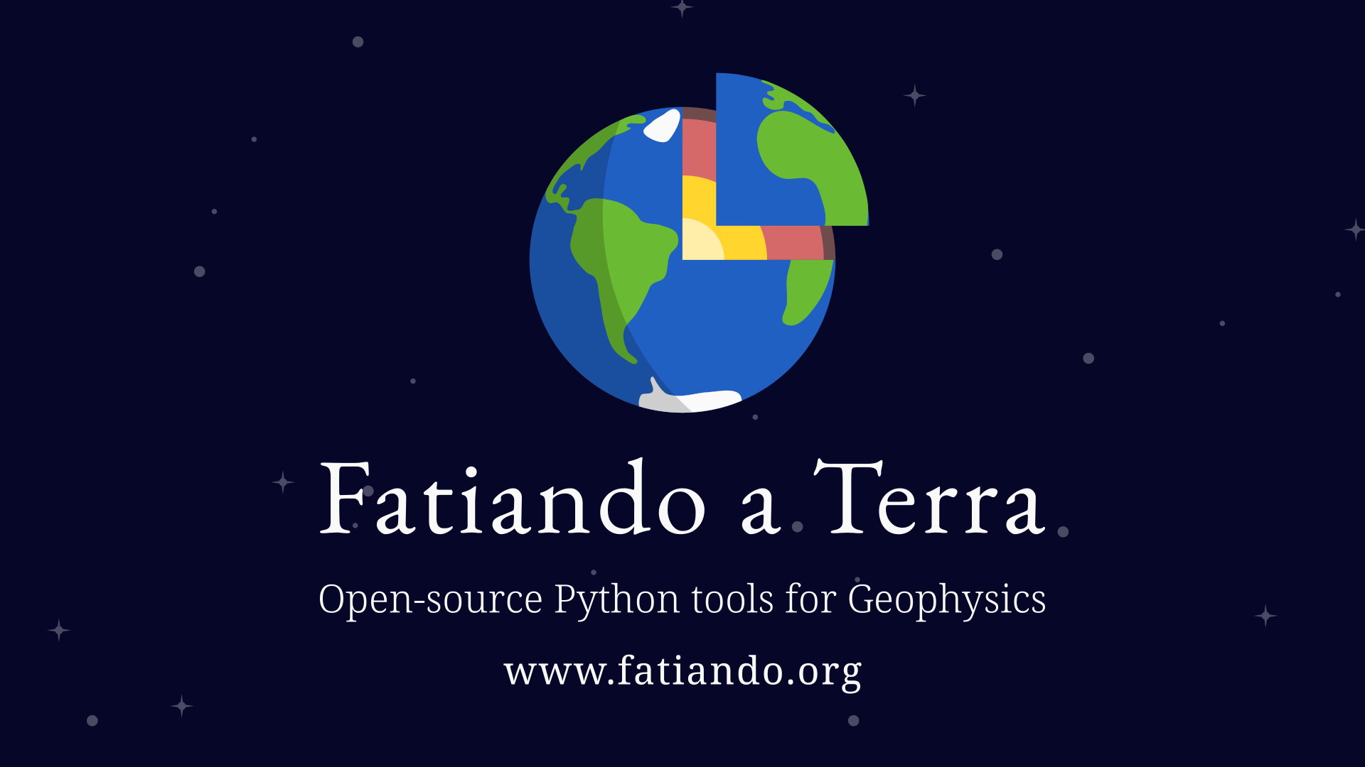 Fatiando a Terra is the main open-source software project on which I work. We develop Python tools for geophysics: modelling, inversion, data processing, and more.