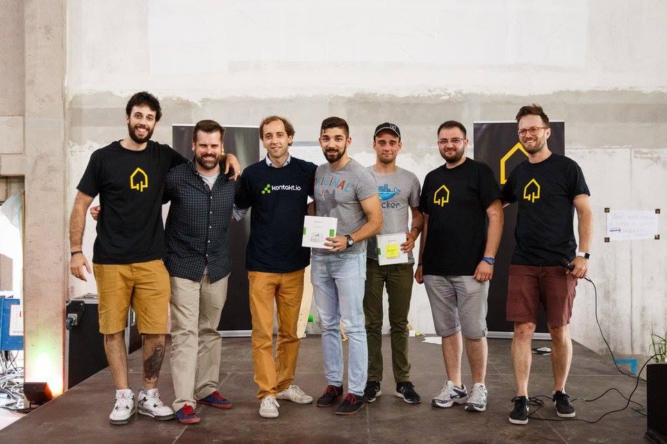 Team Ammarify with Kontakt.io Philipp von Gilsa