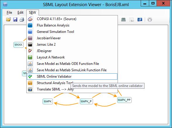 Launch SBML Online Validator