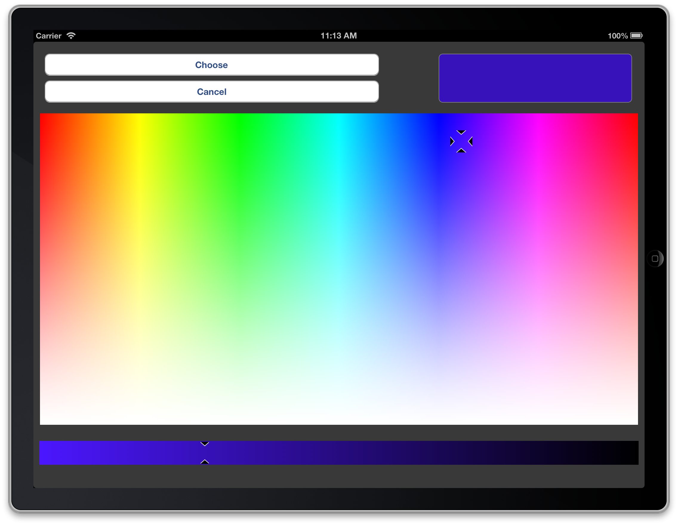 how to use color picker