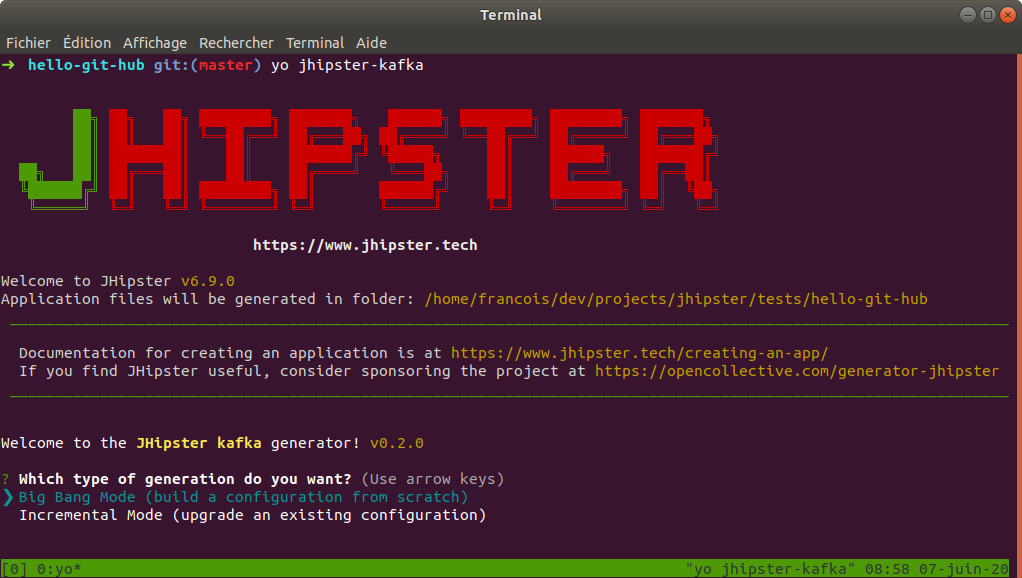Kafka module for JHipster in action!