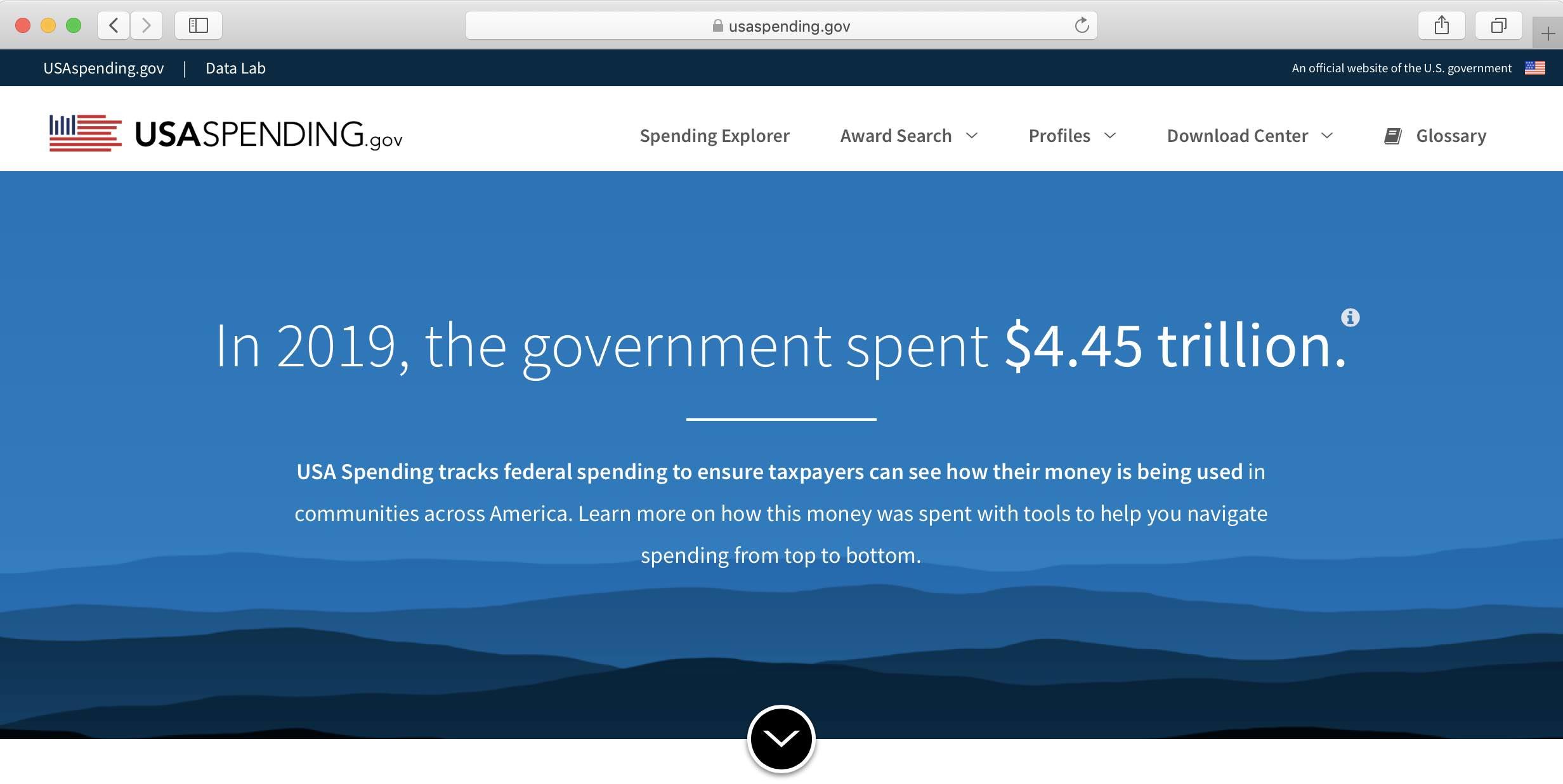 USAspending Landing Page