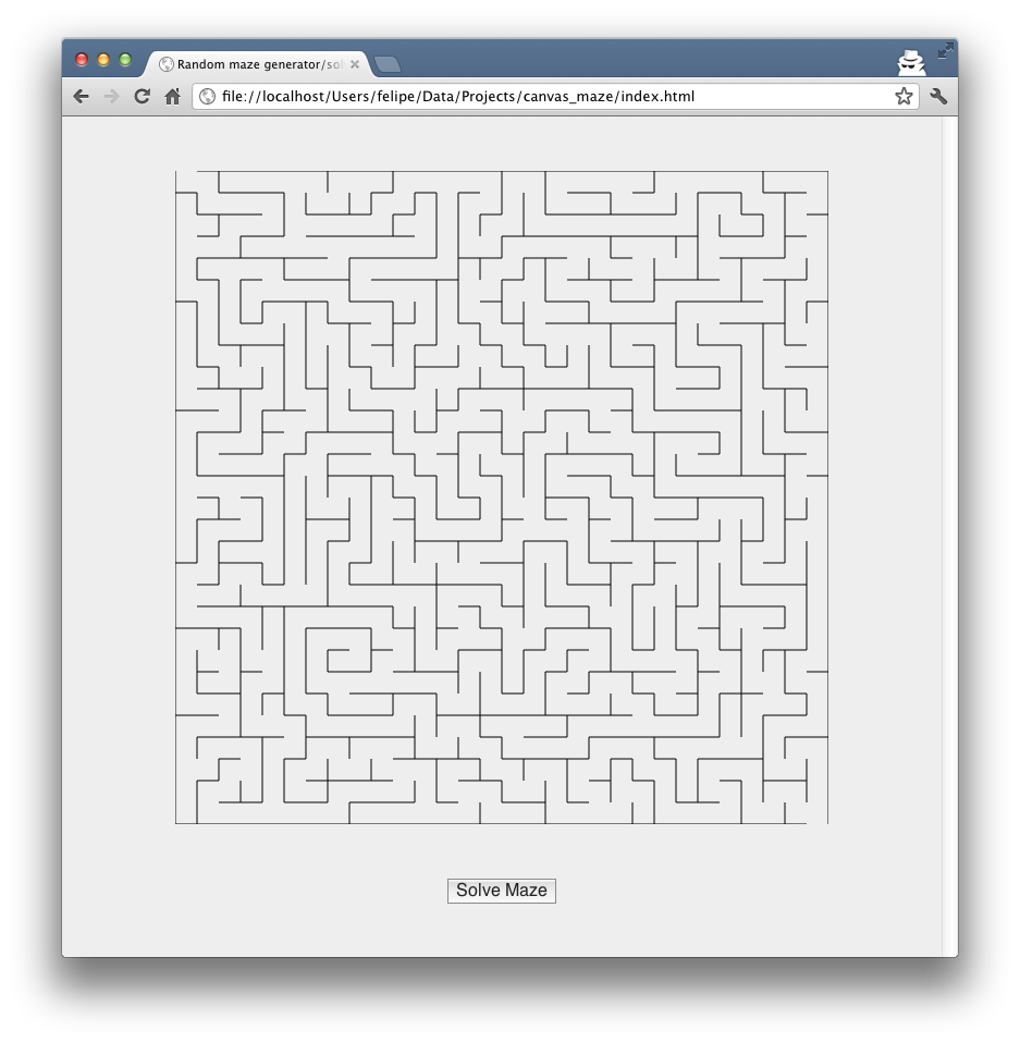 Maze Generator Javascript