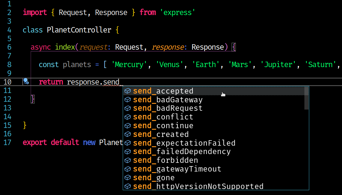 vscode suggestions