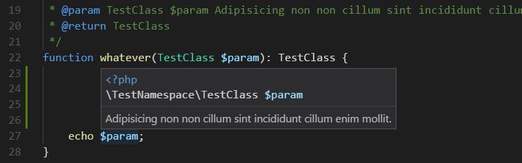 Hover parameter demo