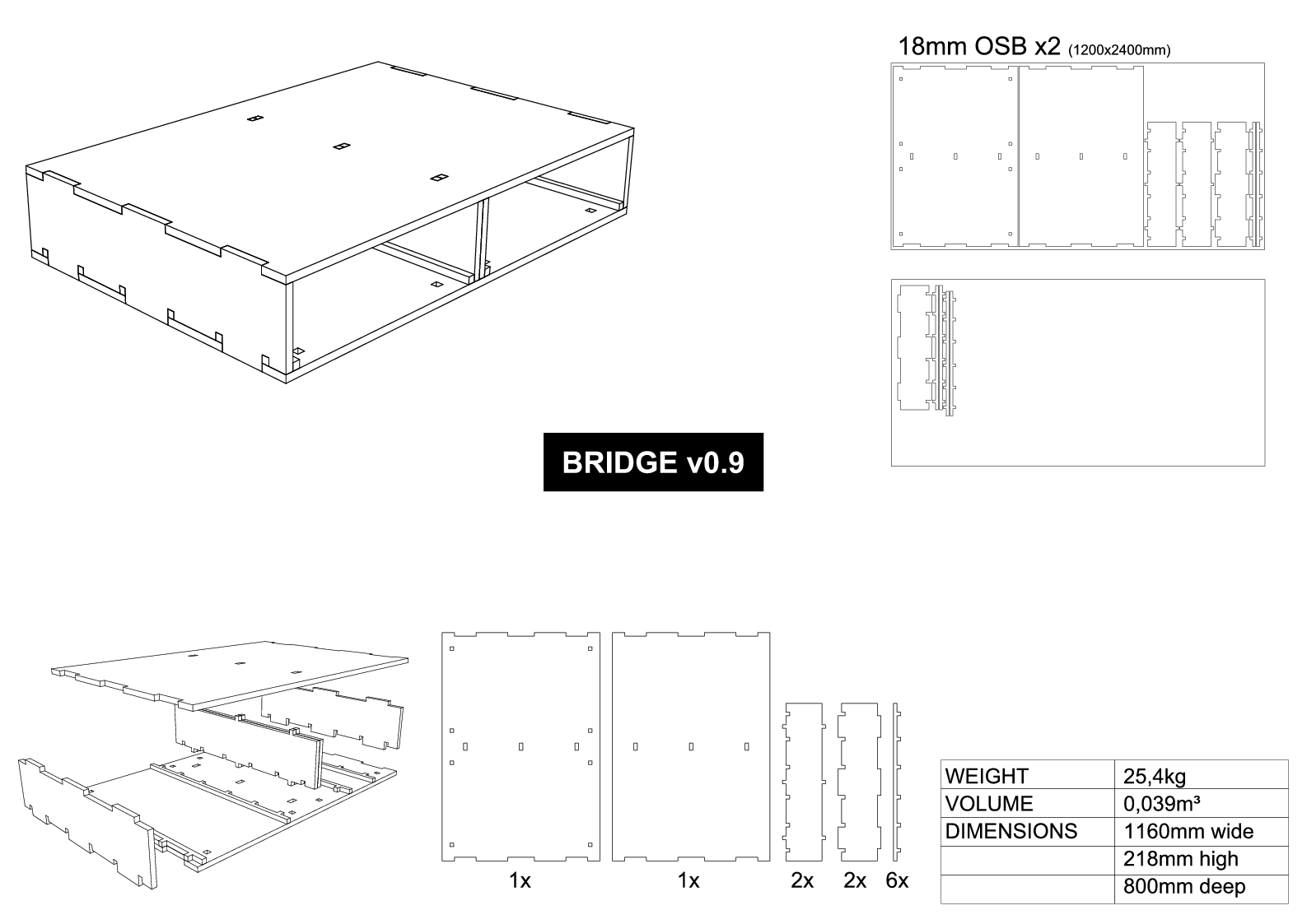 Bridge assembly drawing