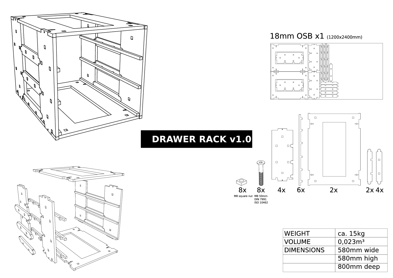 Rack assembly drawing