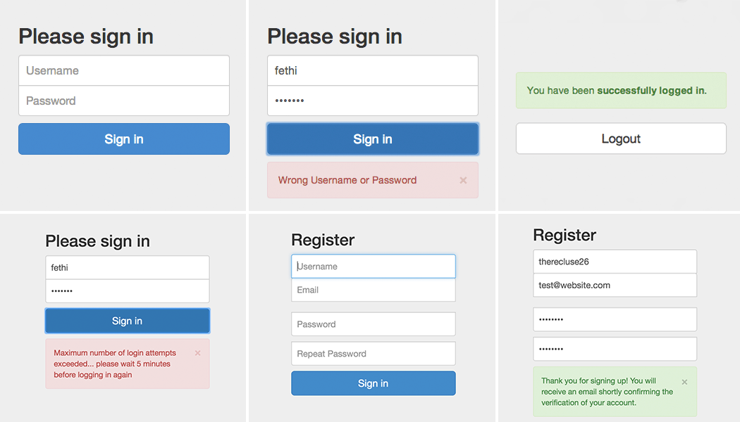 php login template