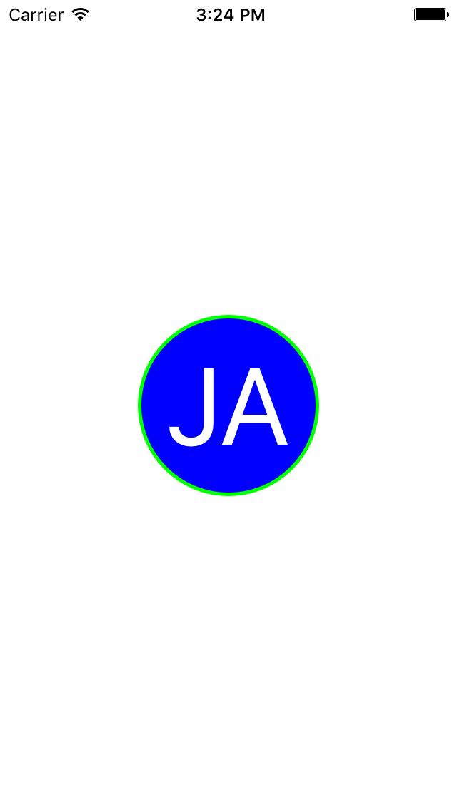 Screenshot of initial circle exampe