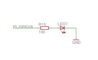 GPIO LED schematic