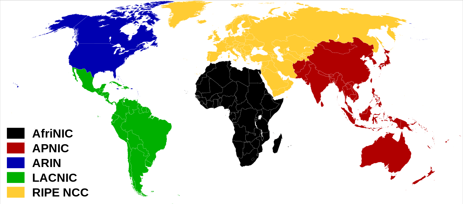 Internet world regions