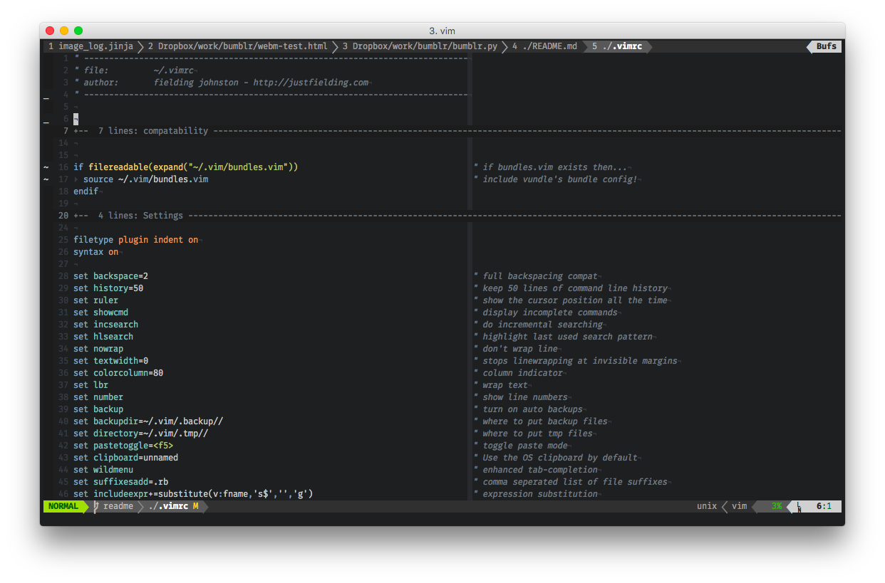 VIM Screenshot