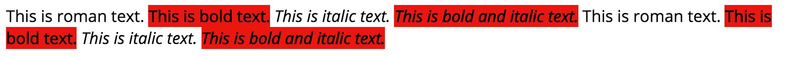 Faux Bold Open Sans