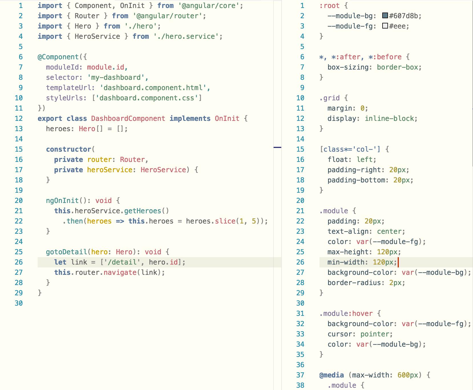 Example TypeScript
