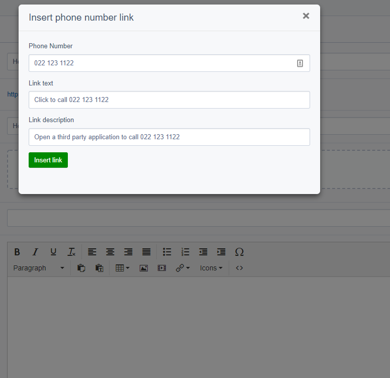 Configure link