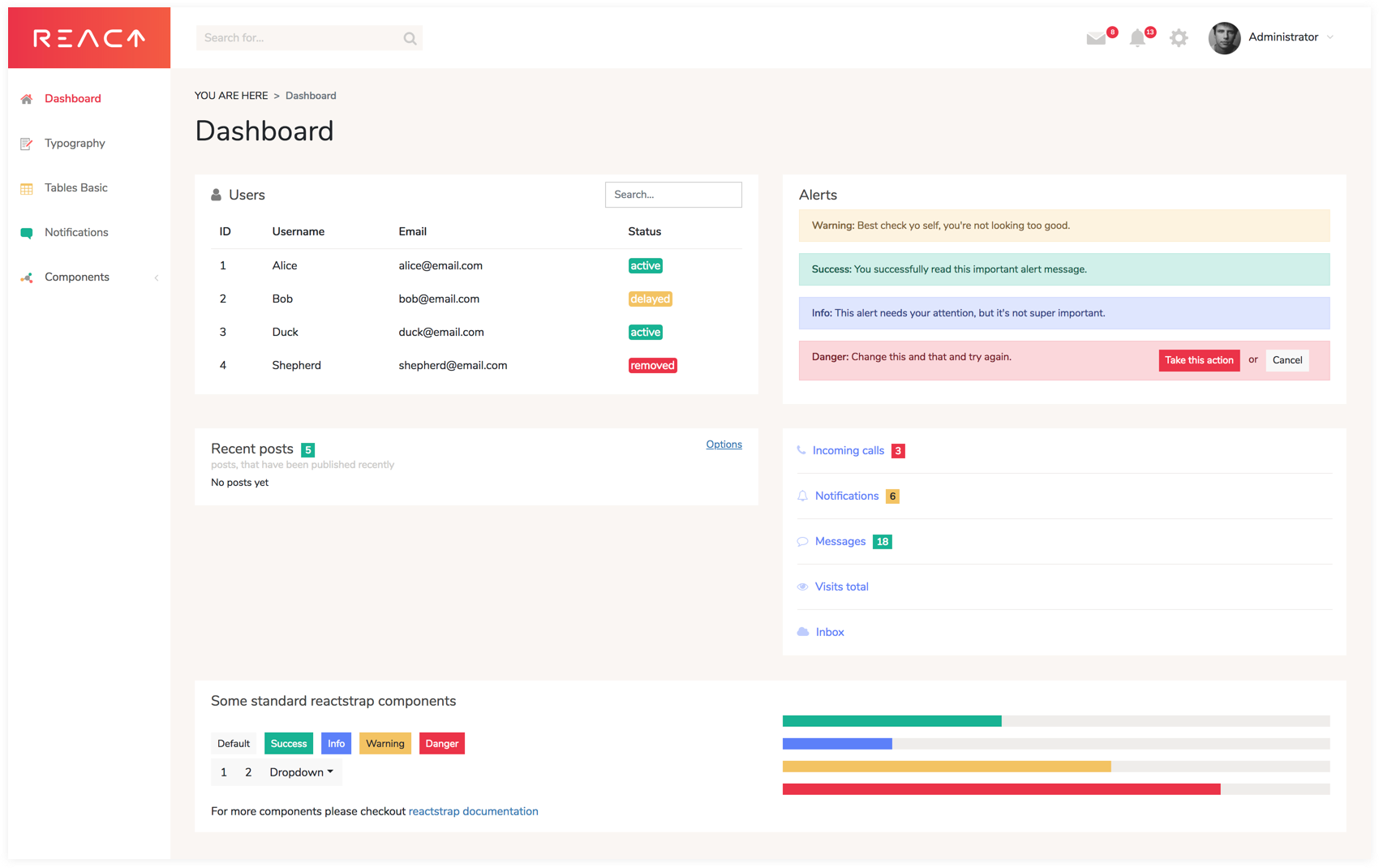 react-dashboard