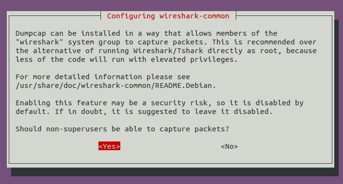 wireshark reconfigure