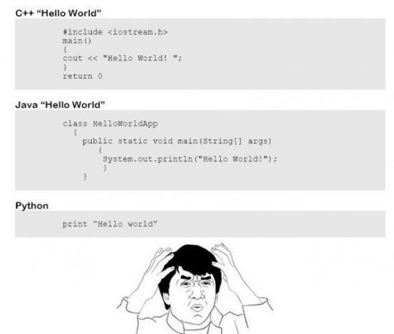 Stupid hello world meme attempt