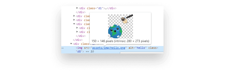 Natural (intrinsic) vs display size of the image shown in DevTools