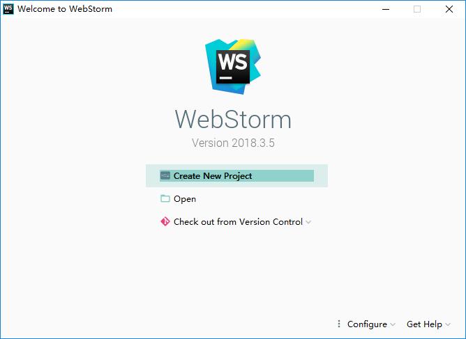 WebStorm新建项目