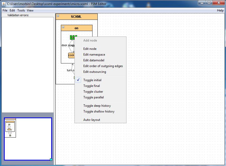 node menu