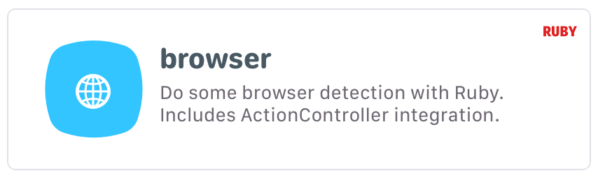 browser: Do some browser detection with Ruby. Includes ActionController integration.