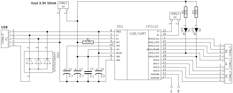 cp2110 circuit
