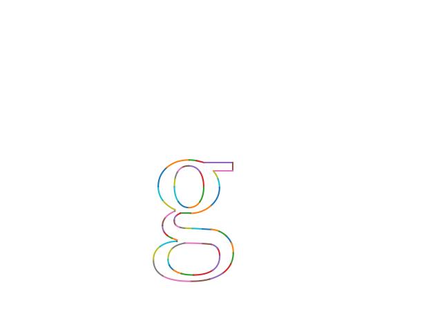 Rendered glyph (lowercase g)