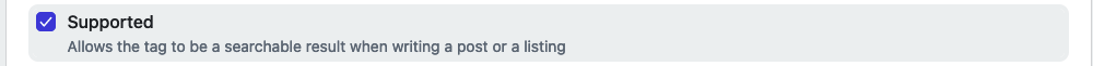 Supported tags are recommended to users when adding tags to their posts