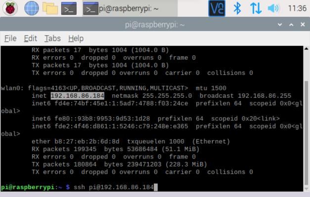 [Raspberry Pi OS Terminal IP Address]