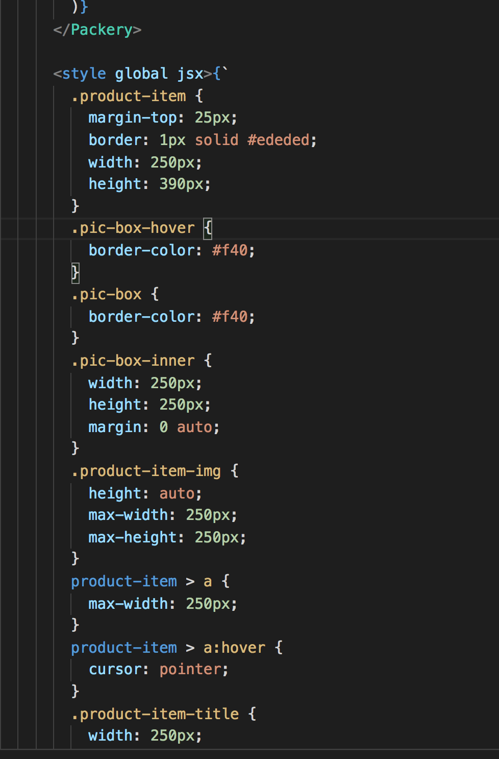 css  style hilight