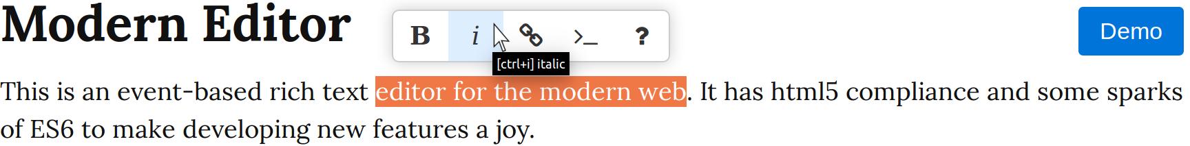 Modern Editor