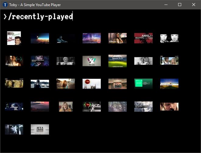 Toby Video List (Slim Grid)