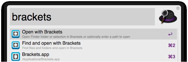 Open With Brackets Screenshot