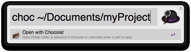 Open With Chocolat Screenshot