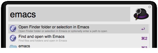 Open With Emacs Screenshot