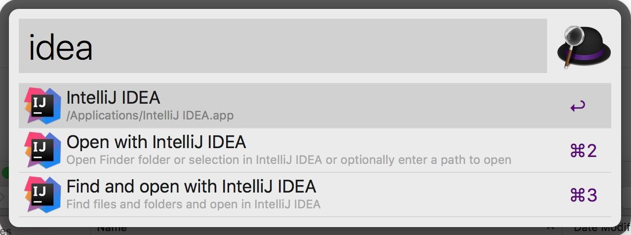 Open With IntelliJ IDEA Screenshot