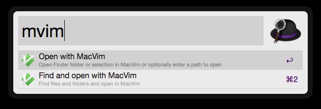 Open With MacVim Screenshot