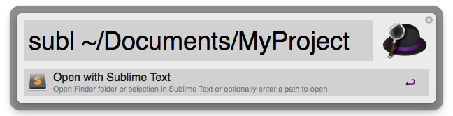 Open With Sublime Text v3 Screenshot