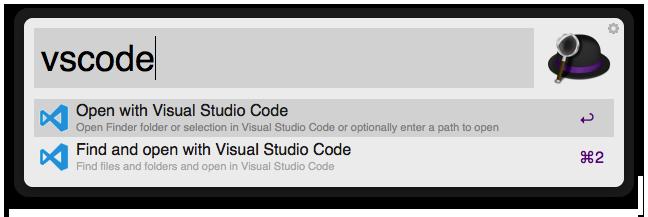 Open With  Visual Studio Code Screenshot