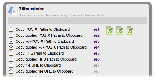 Copy Paths to Clipboard Screenshot