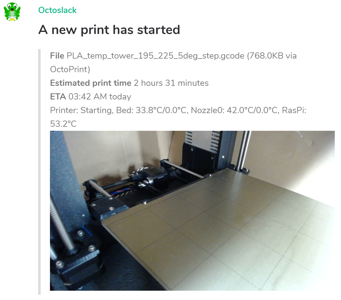 Matrix/Riot.im - Print started example