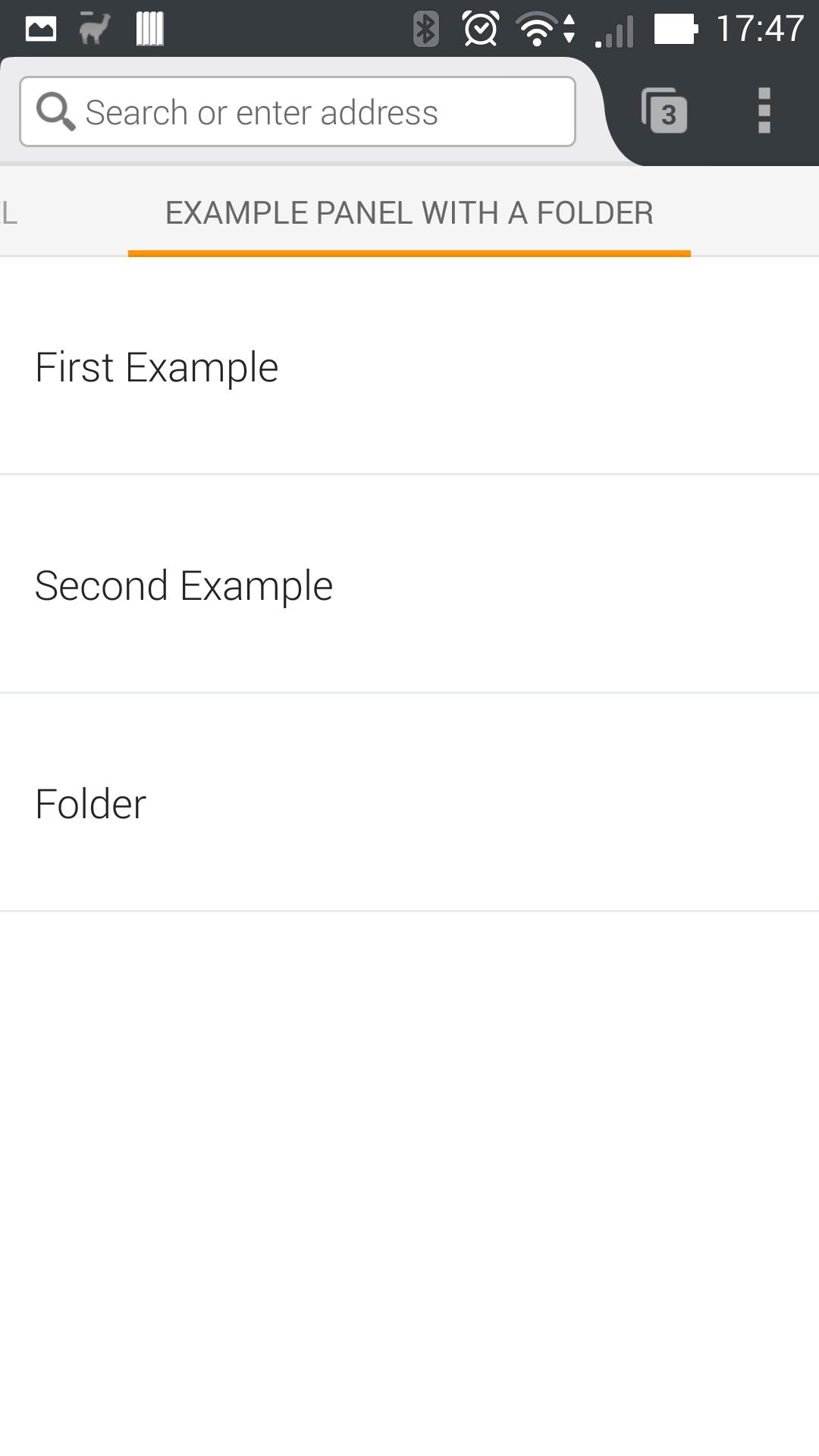 Folder Panel