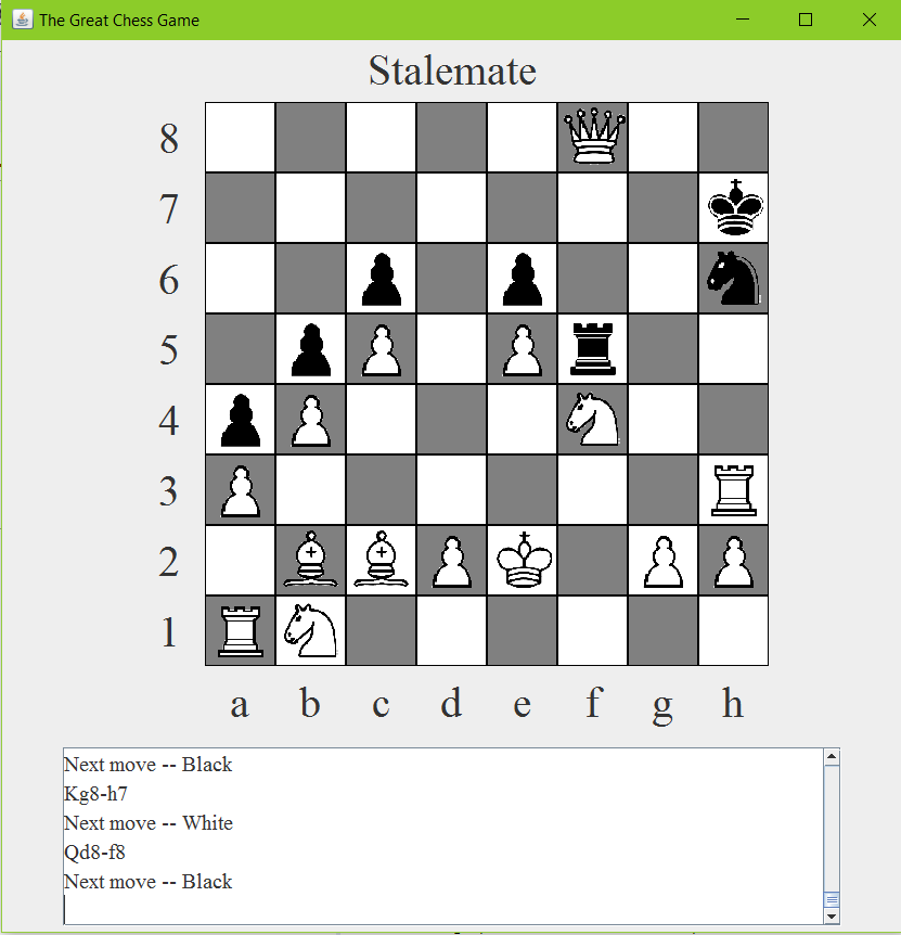 GitHub - fredzqm/Chess: My wonderful java chess game