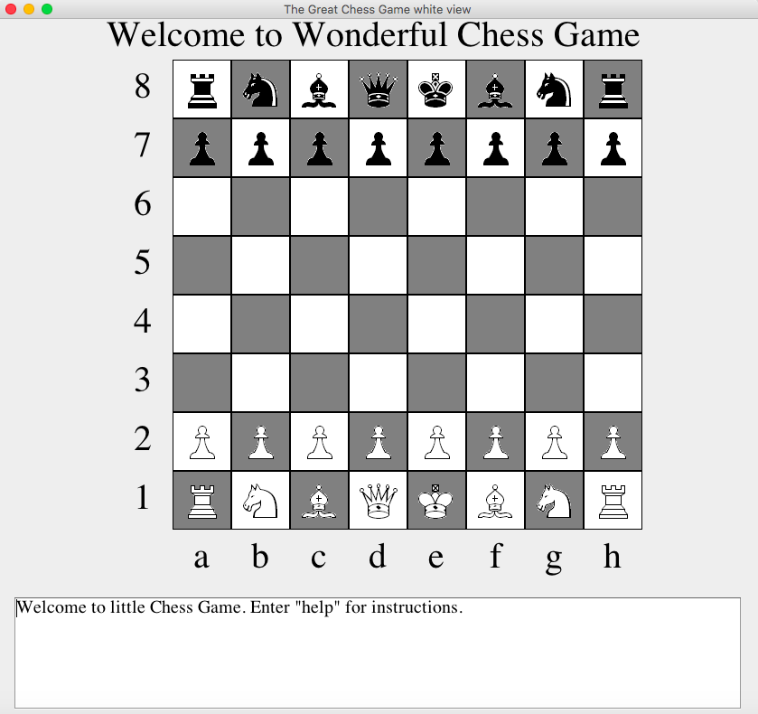 Github Fredzqmchess My Wonderful Java Chess Game