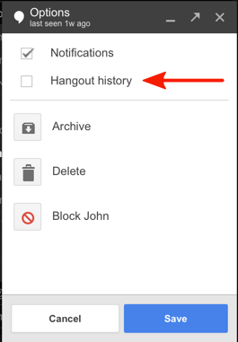 "Google's ""Hangout history"" function may not be secure."