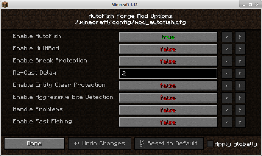 AutoFish Forge Mod Options by Frenetic Feline