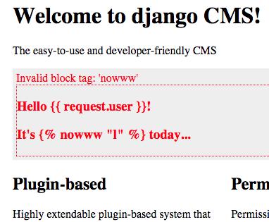 Syntax error example