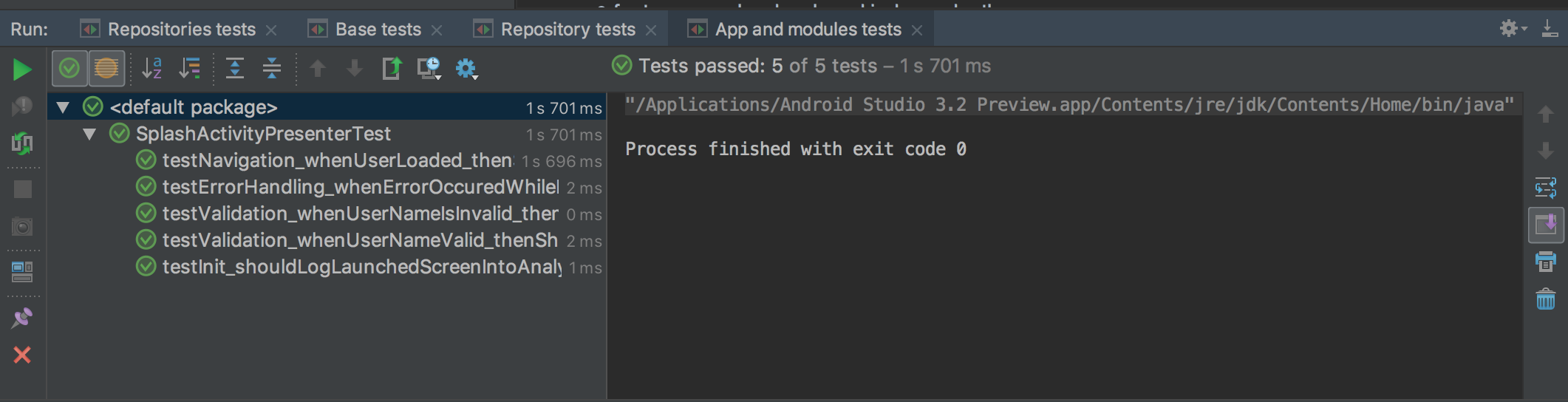 All tests sequential