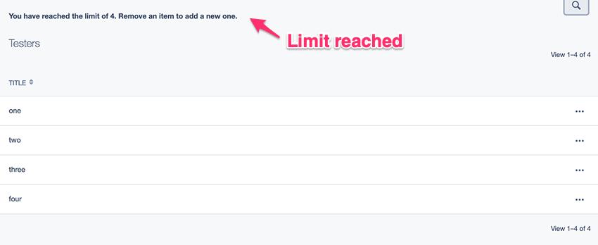 Limit reached